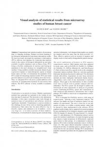 Visual analysis of statistical results from microarray studies of human ...