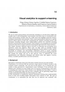 Visual analytics to support e-learning