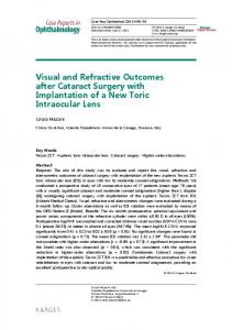 Visual and Refractive Outcomes after Cataract ... - Semantic Scholar