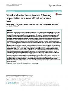 Visual and refractive outcomes following ... - BioMed Central