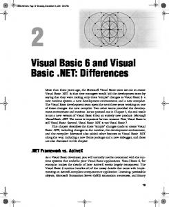 Visual Basic 6 and Visual Basic .NET: Differences - Microsoft ...