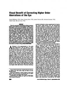 Visual Benefit of Correcting Higher Order Aberrations of ... - CiteSeerX