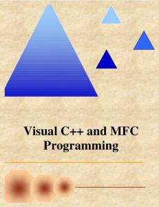 Visual C++ and MFC Programming 2nd Edition