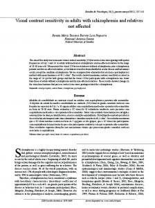 Visual contrast sensitivity in adults with schizophrenia and ... - SciELO