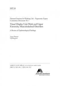 Visual Display Unit Work and Upper Extremity ... - Semantic Scholar