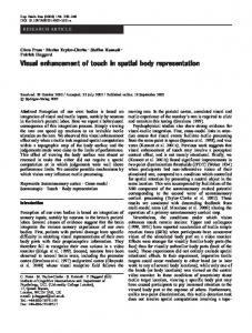 Visual enhancement of touch in spatial body representation - Brain ...