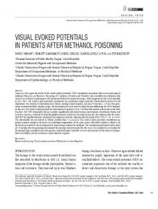 visual evoked potentials in patients after methanol poisoning