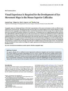 Visual Experience Is Required for the Development of Eye Movement ...