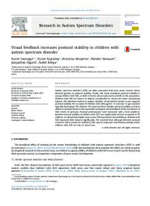 Visual feedback increases postural stability in ...