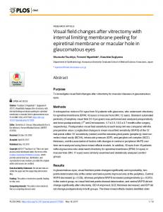 Visual field changes after vitrectomy with internal limiting membrane