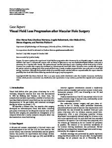 Visual Field Loss Progression after Macular Hole Surgery