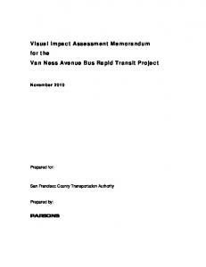 Visual Impact Assessment Memo - San Francisco County ...