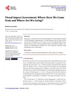 Visual Impact Assessment: Where Have We Come from and Where ...