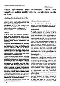 Visual performance after conventional LASIK and ... - Semantic Scholar