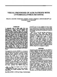 visual prognosis of aids patients with cytomegalovirus retinitis - Nature