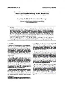 Visual-Quality Optimizing Super Resolution