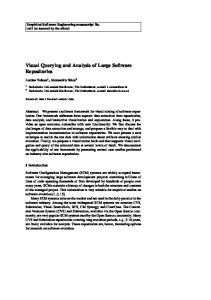 Visual Querying and Analysis of Large Software ... - Semantic Scholar