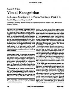 Visual Recognition