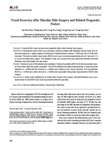 Visual Recovery after Macular Hole Surgery and Related Prognostic ...