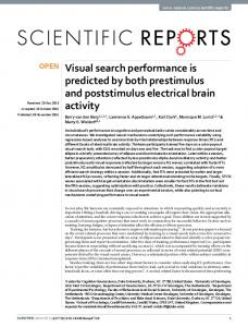 Visual search performance is predicted by both ... - Semantic Scholar