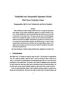 Visualizable and Interpretable Regression Models With Good ...