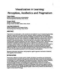 Visualization in Learning: Perception, Aesthetics and ...