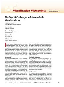 Visualization Viewpoints Editor: The Top 10 Challenges in ... - SDM