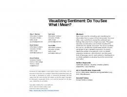 Visualizing Sentiment: Do You See What I Mean?