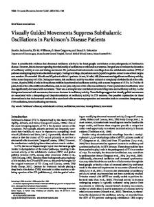 Visually Guided Movements Suppress Subthalamic Oscillations in ...