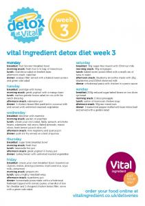 vital ingredient detox diet week 3