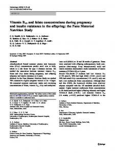 Vitamin B12 and folate concentrations during ... - BioMedSearch