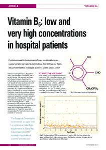 Vitamin B6 : low and very high concentrations in ...