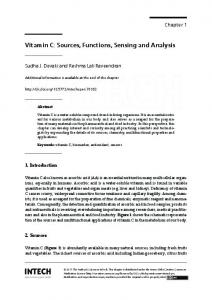 Vitamin C: Sources, Functions, Sensing and Analysis