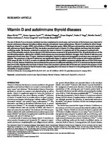 Vitamin D and autoimmune thyroid diseases - Core