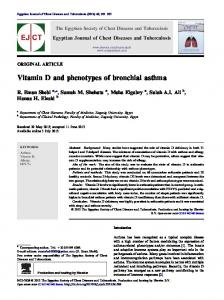 Vitamin D and phenotypes of bronchial asthma - Core