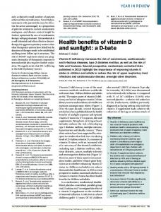 Vitamin D deficiency in 2010: Health benefits of vitamin ... - VitaminDWiki