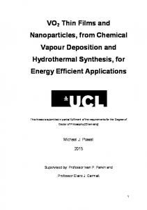VO2 Thin Films and Nanoparticles, from Chemical