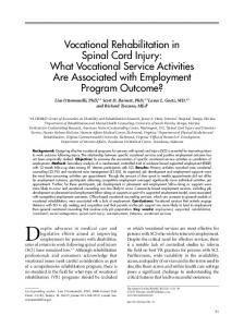 Vocational Rehabilitation in Spinal Cord Injury: What Vocational ...