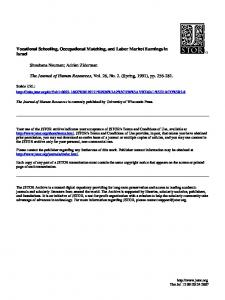 Vocational Schooling, Occupational Matching, and Labor Market ...