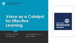 Voice as a Catalyst for Effective Learning