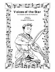 Voices of the Star - Ansteorran Bardic Guild