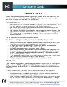 VoIP and 911 Service
