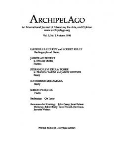 Vol. 2 No. 3 - Archipelago