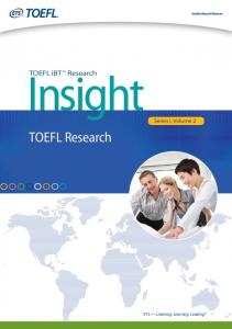 Vol. 2: TOEFL Research - ETS