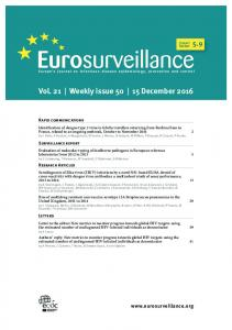 Vol. 21 | Weekly issue 50 | 15 December 2016
