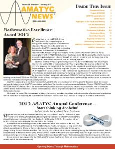 Vol.28. No.1, Jan. 2013 - amatyc