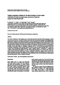 Volatile Metabolite Profiling for the Discrimination of ... - Springer Link