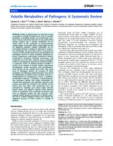 Volatile Metabolites of Pathogens: A Systematic Review - PLOS