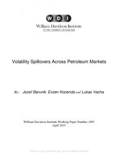 Volatility Spillovers Across Petroleum Markets - SSRN papers