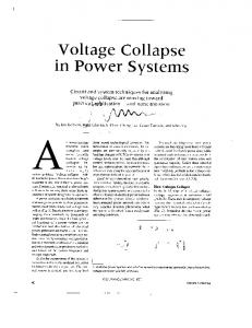 Voltage collapse in power systems - IEEE Circuits and Devices ...